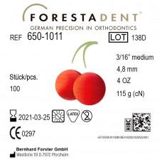 "Forestadent Вишня 3/16"" (4,76 мм) 4 Oz (113 г) эластики внеротовые"