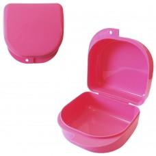 MIG DB-02 Розовый контейнер для съемных зубных протезов (71*78*45 мм)