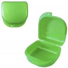 MIG DB-02 Зеленый-перламутровый контейнер для съемных зубных протезов (71*78*45 мм)