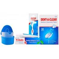 Y-Kelin Denture Set набор для ухода за съёмными протезами 4 в 1