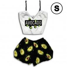 Чернега Авокадо размер S Пижама женская классический топ и шорты