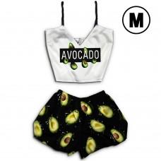 Чернега Авокадо размер M Пижама женская классический топ и шорты