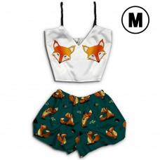 Чернега Лисы классика размер М Пижама женская классический топ и шорты