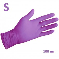 White Line Перчатки нитриловые нестерильные фиолетовые размер S 100 шт