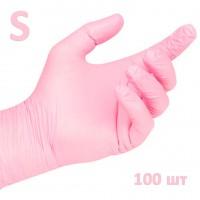 White Line Перчатки нитриловые нестерильные розовые размер S 100 шт