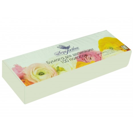 Dona Jerdona бумага для депиляции в полосках белая (7х22/80 г) 100 шт