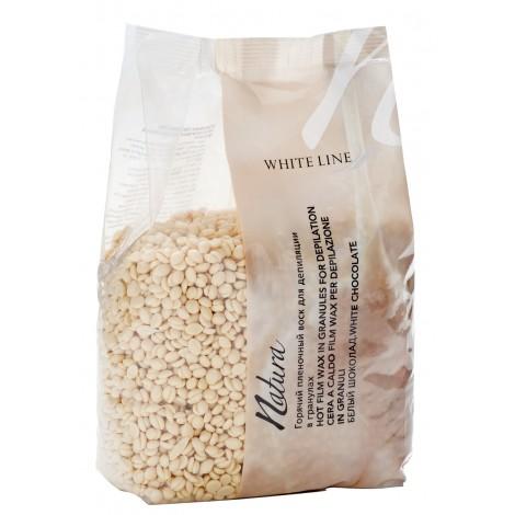 White line Воск Natura Белый шоколад горячий пленочный в гранулах (1 кг)