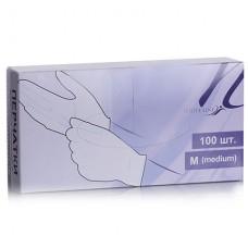 White Line Перчатки ПВХ неопудренные размер M (50 пар/100шт)