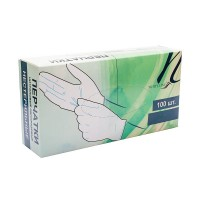 White Line Перчатки нитриловые белые размер S (50 пар/100шт)