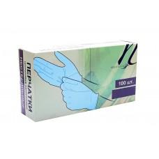 White Line Перчатки нитриловые голубые размер S (50 пар/100шт)