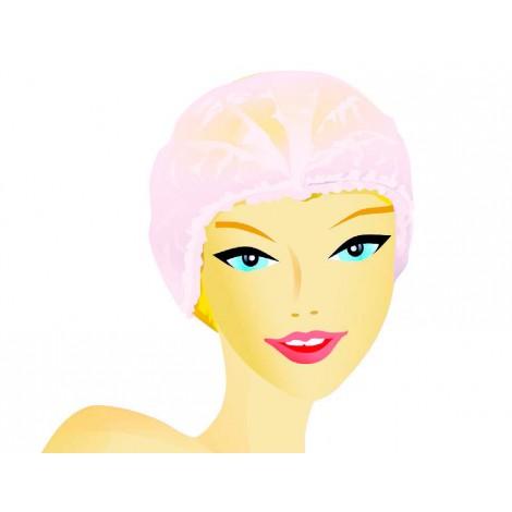 White line Шапочка-клип розовая (50 шт)