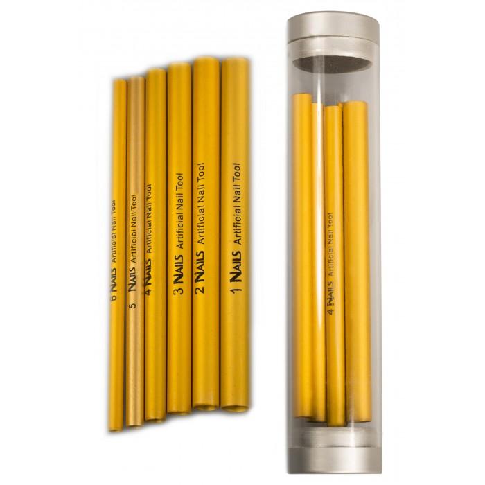 Dona Jerdona 101228 трубочки для моделирования арки 6 шт. золотые глянцевые