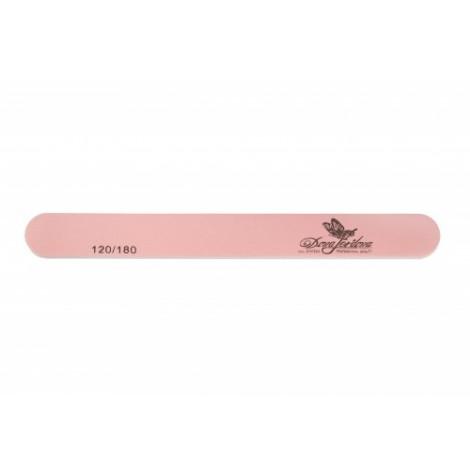 Дона Жердона 100419 пилка для искусственных и натуральных ногтей 120/180 грит овальная узкая розовая