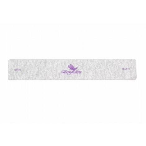 Дона Жердона 100194 пилка для натуральных ногтей 180/220 грит прямоугольная широкая серая