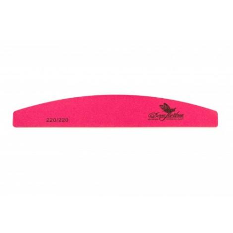 Дона Жердона 100350 пилка для натуральных ногтей 220/220 грит полукруглая розовая
