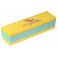 Dona Jerdona Баф шлифовочный двухсторонний желтый/зеленый 150/180
