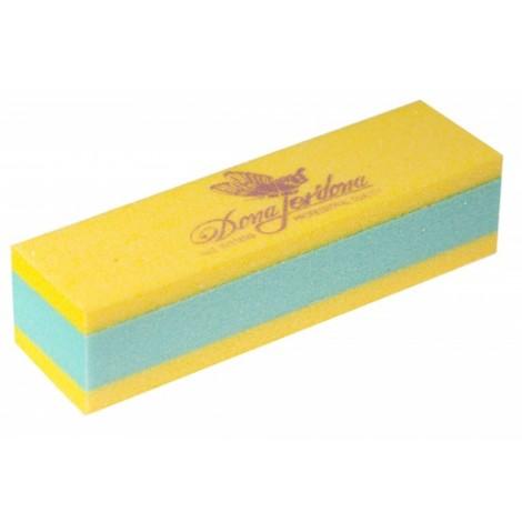 Дона Жердона 101182 баф шлифовочный двухсторонний желтый/зеленый