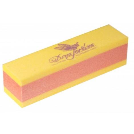 Дона Жердона 101180 баф шлифовочный двухсторонний желтый/оранжевый