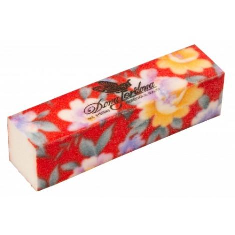 Дона Жердона 100453 баф шлифовочный красный в цветочек