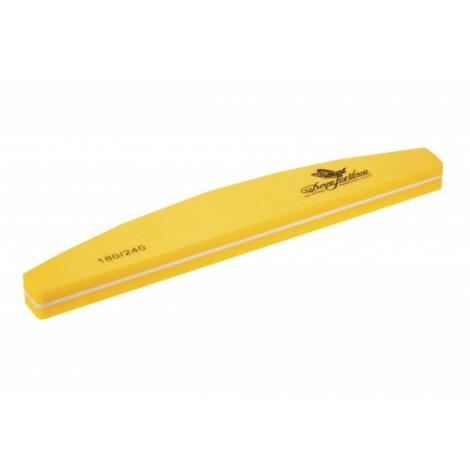 Дона Жердона 100383 шлифовка для ногтей полукруглая жёлтая 180/240 грит