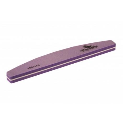Дона Жердона 100387 шлифовка для ногтей полукруглая фиолетовая 180/240 грит