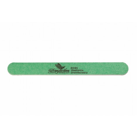 Дона Жердона 100217 пилка для искусственных ногтей 80/80 грит овальная узкая зеленая