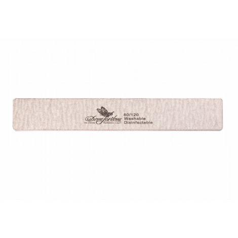 Дона Жердона 100219 пилка для искусственных ногтей 80/120 грит прямоугольная широкая серая