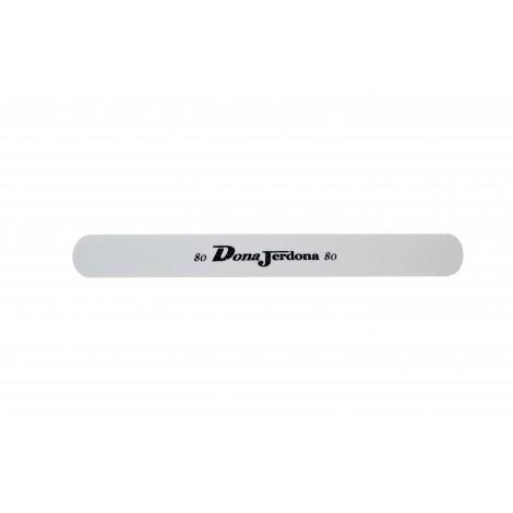 Дона Жердона 7679 пилка для искусственных ногтей 80/80 грит овальная узкая белая