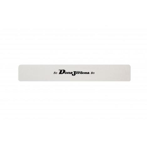 Дона Жердона 7680 пилка для искусственных ногтей 80/80 грит прямая широкая белая