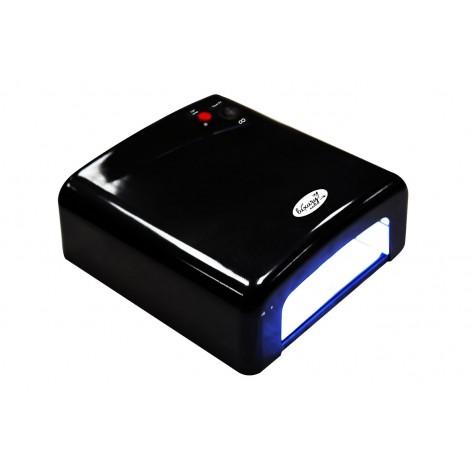 Luxury 818Р-7 черная UV лампа 36W с таймером на 120 cекунд и бесконечность