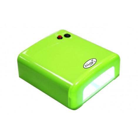 Luxury 818Р-5 салатовая UV лампа 36W с таймером на 120 секунд и бесконечность