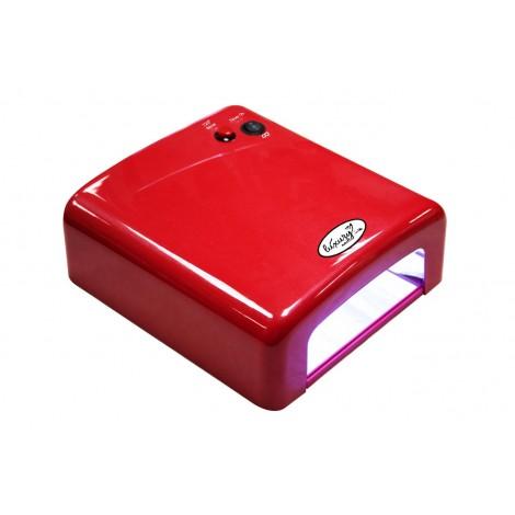 Luxury 818Р-2 красная UV лампа 36W с таймером на 120 секунд и бесконечность