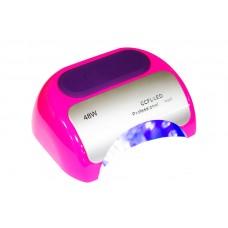 Лампа LED +CCFL 48 W таймер 10,30,60 сек.и бесконечность розовая