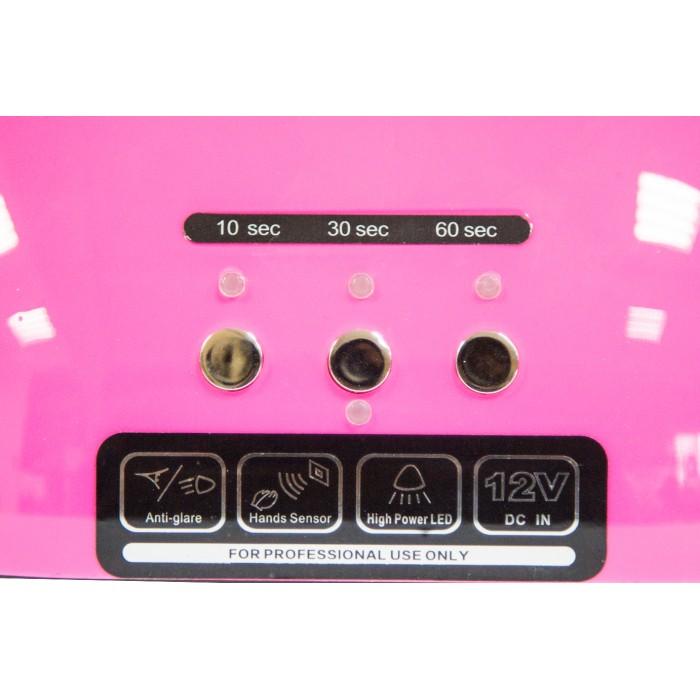 Dona Jerdona LED +CCFL 48 W лампа Розовая таймер 10,30,60 секунд и бесконечность
