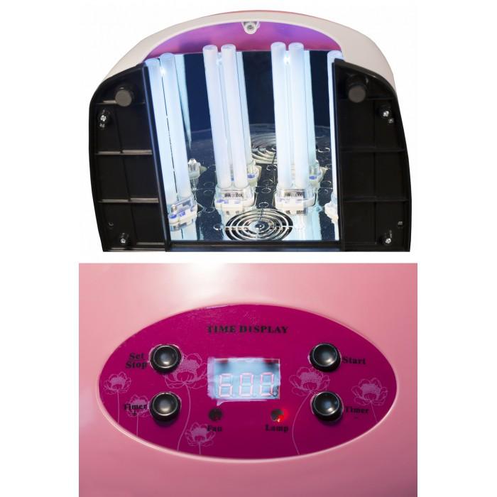 Дона Жердона Д770Р UV лампа 36W с регулируемым вентилятором розовая
