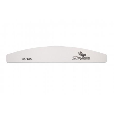 Дона Жердона 100426 пилка для натуральных и искусственных ногтей 80/180 грит полукруглая белая