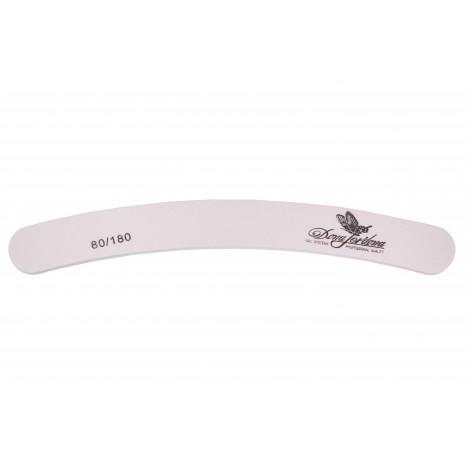 Дона Жердона 100427 пилка для натуральных и искусственных ногтей 80/180 грит бумеранг белая