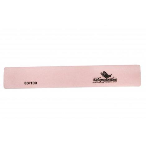 Дона Жердона 100398 пилка для искусственных ногтей 80/100 грит прямоугольная широкая розовая
