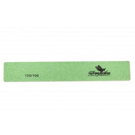 Дона Жердона 100403 пилка для искусственных ногтей 100/100 грит прямоугольная широкая зеленая