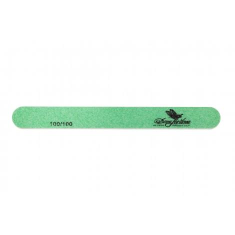 Дона Жердона 100404 пилка для искусственных ногтей 100/100 грит овальная узкая зеленая