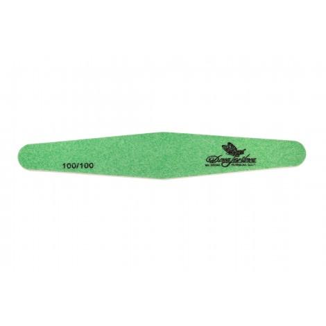 Дона Жердона 100405 пилка для искусственных ногтей 100/100 грит ромб зеленая