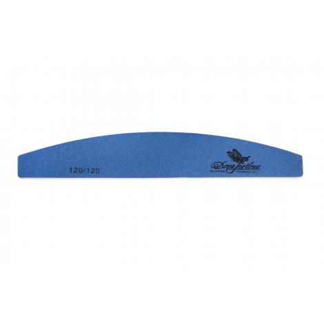 Дона Жердона 100411 пилка для искусственных ногтей 120/120 грит полуккруглая синяя