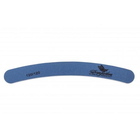 Дона Жердона 100412 пилка для искусственных ногтей 120/120 грит бумеранг синяя