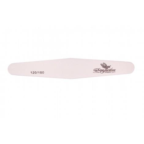 Дона Жердона 100415 пилка для искусственных ногтей 120/150 грит ромб белая