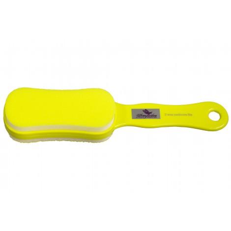 Дона Жердона 100262 желтая тёрка для педикюра 60/100 грит
