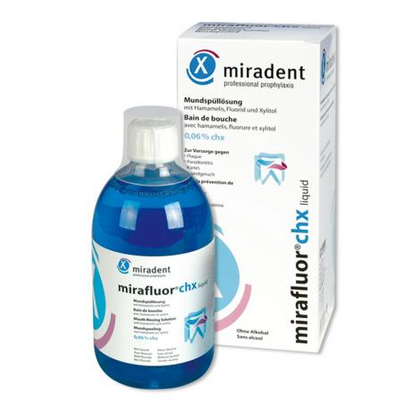 Miradent Mirafluor CHX ополаскиватель для полости рта с хлоргексидином 0,06 % (500 мл)