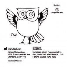 """Ormco Owl Сова слабые внутриротовые эластики 1/4"""" 2Oz 3B"""