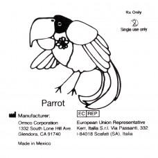 """Ormco Parrot Попугай слабые внутриротовые эластики 5/16"""" 2Oz 4B"""