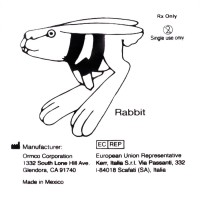 """Ormco Rabbit Кролик средне-сильные 3/16"""" 3,5Oz 2D внутриротовые эластики"""