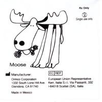"""Ormco Moose Лось очень сильные внутриротовые эластики 5/16"""" 6Oz 4F"""